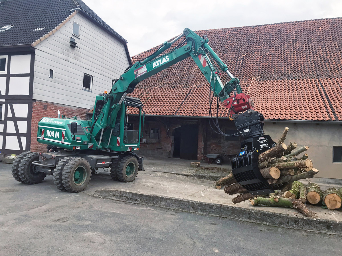 Sortiergreifer SG71 Mobilbagger Holz